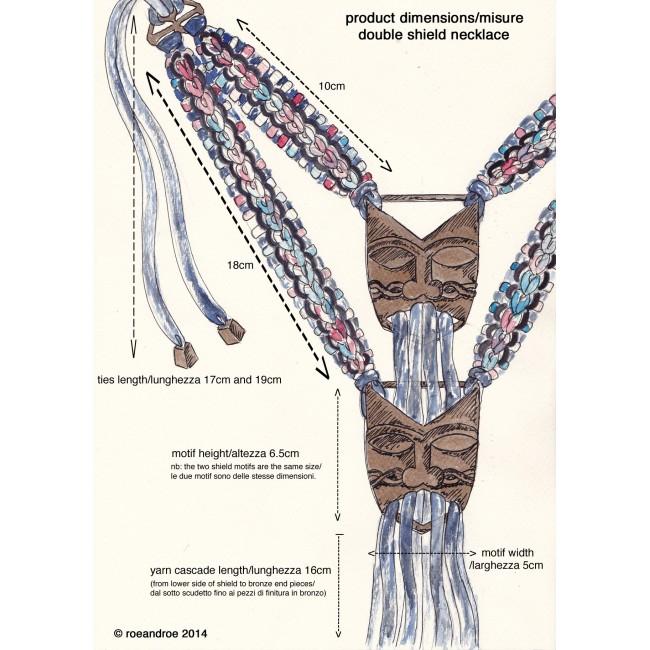 roeandroe double shield necklace